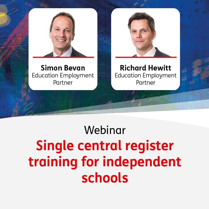 Single Central Register Training for Independent Schools