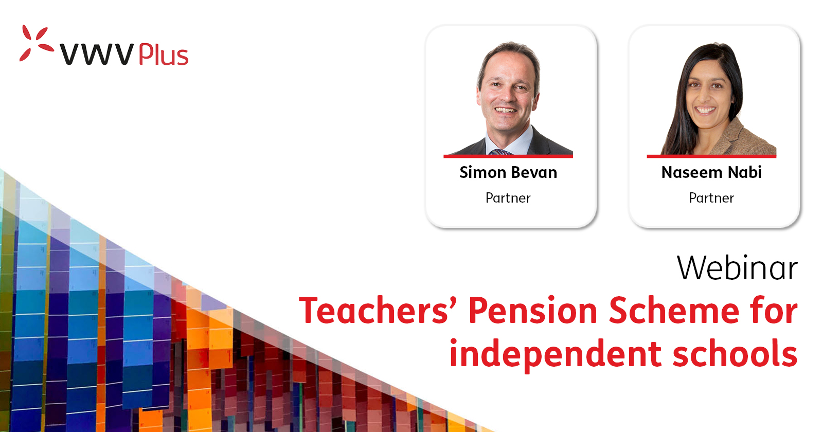 Teacher's Pension Scheme Webinar   VWV Plus