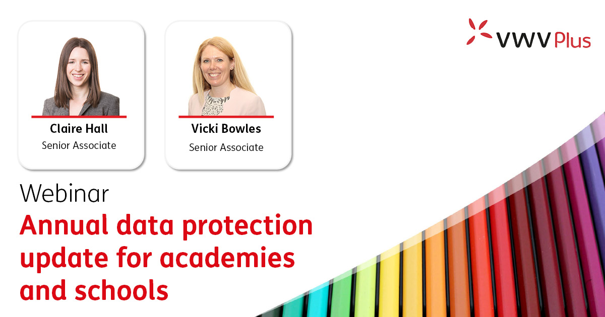 Annual data protection update for academies and schools