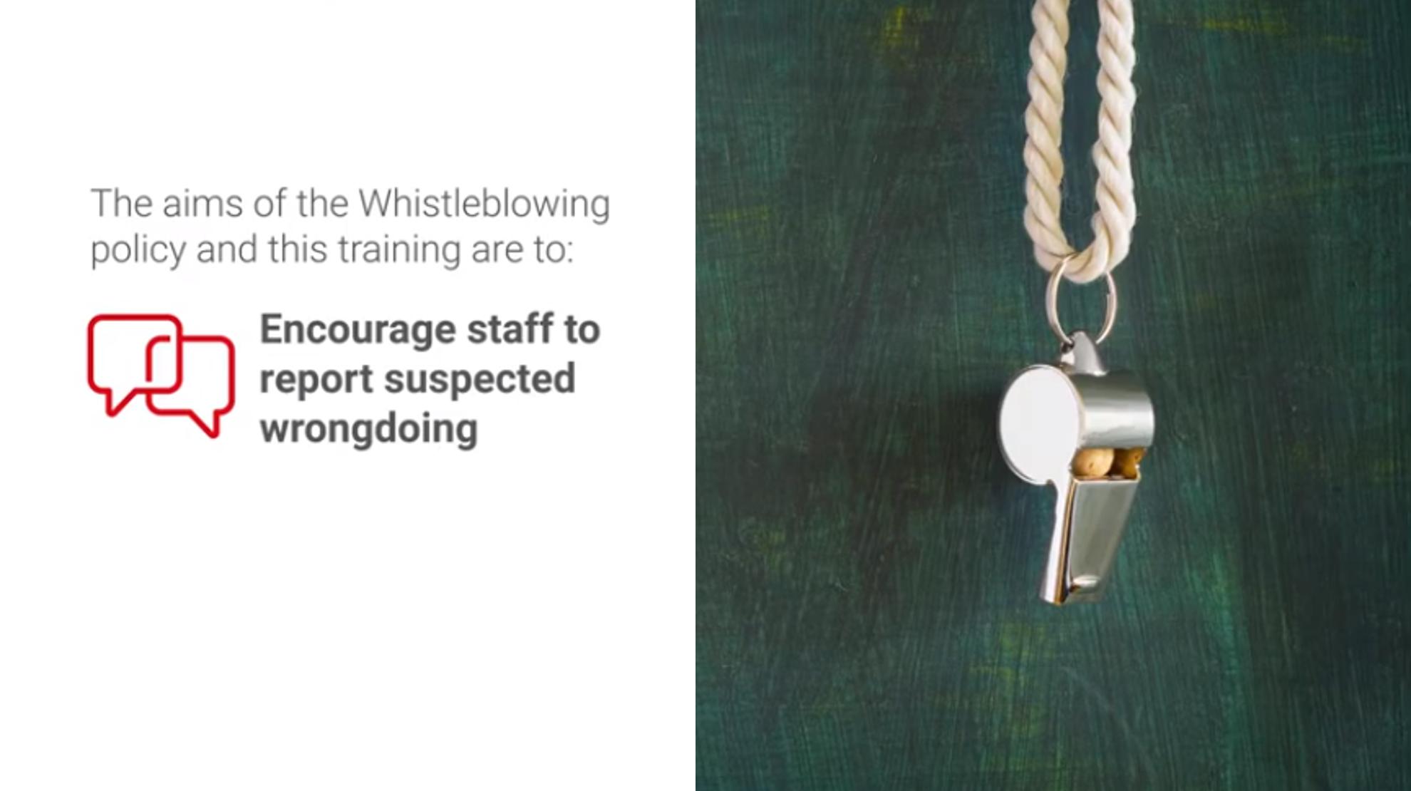Whistleblowing eLearning | VWV Plus