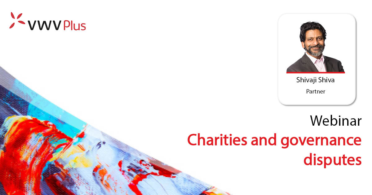 Charities and governance disputes - 21 September