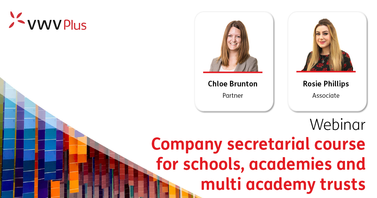 Company secretarial course forschools, academies and multi academy trusts
